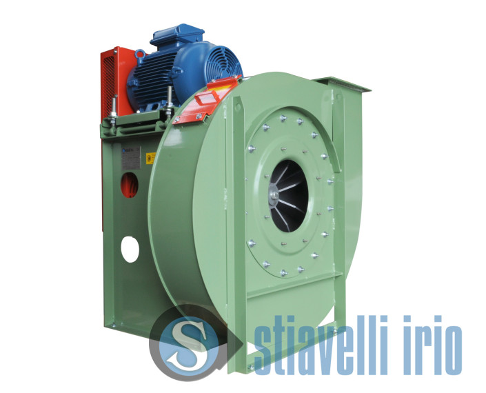 Industrial fans for plastic materials transportation