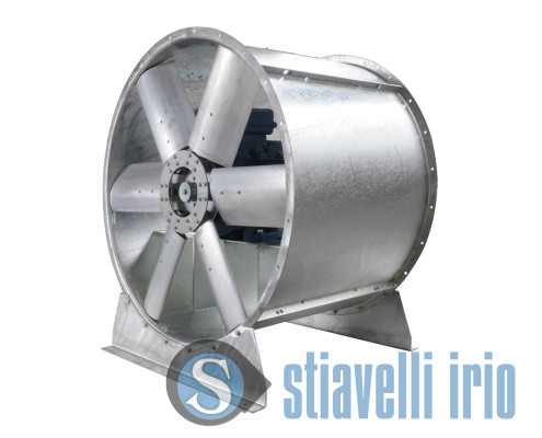 Industrial fans for wind tunnels