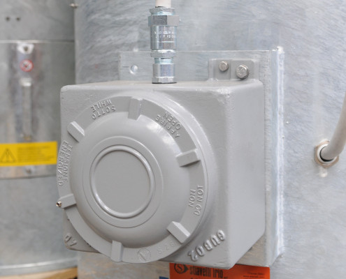 Explosion proof terminal box for axial fan