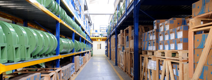 Industrial fans warehouse italy