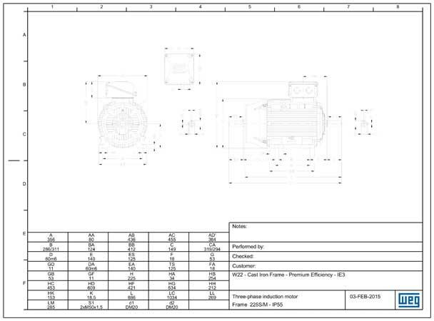 Tipo 4-6p 225S.M B3 DS-EN