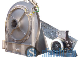 Industrial fan for textile industry