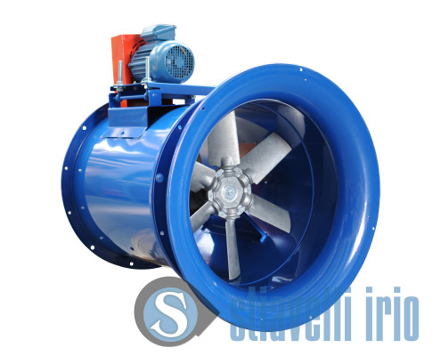 Axial fan with nozzle